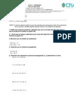 Guia de Examen 1er Parcial Matemáticas 3