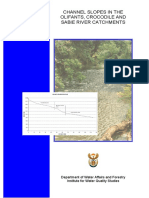 CHANNEL SLOPES IN THE OLIFANTS, CROCODILE AND SABIE RIVER CATCHMENTS