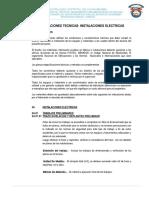 Especificaciones Tecnicas Instalaciones Eléctricas