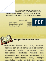 Humanisme Modern and Education