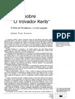 Notas Sobre o Trovador Kerib