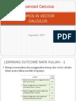 Vector Calculus 2018 ( Civil Engineering)