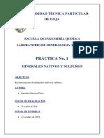 Mineralogia Aplicada Informe Nativos