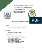 Residuos Municipales- Tratamentos