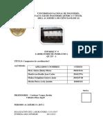 Informe de Laboratorio de Inorgánica 9