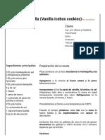 Hoja de Impresión de Galletas de Vainilla (Vanilla Icebox Cookies)