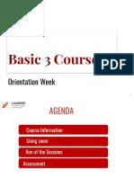 UPN B3 Orientation Week