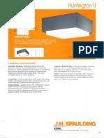Spaulding Lighting Huntington II Spec Sheet 8-84
