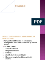 Model of Educational Management