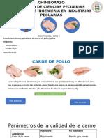 caracteristicas de la carne de pollo