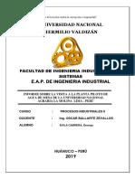 Informe de Agua La Molina