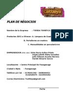 John Acosta,Edna Avilan, Julieth Nieto_Plan de Negocios Tienda Tematica