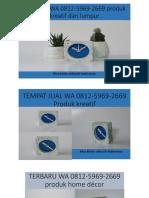 TERLARIS WA 0812-5969-2669 produk kreatif dari lumpur