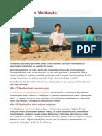 10 Mitos Sobre Meditação