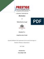 PROJECT REPORT OF EFFOTEL HOTEL BY SAYAJI
