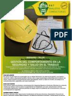 Gestión del Comportamiento en la Seguridad y Salud en el Trabajo