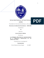 Propuesta de Investigación - Nociones de Desarrollo Económico