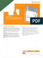 Spaulding Lighting Rockford Spec Sheet 8-84