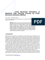 Three-Dimensional Numerical Simulation of Seamless Pipe Piercing Process by Fluid-Structure Interaction Method