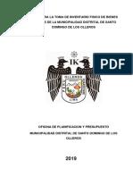 Directiva 005-2019 Directiva Para La Toma de Inventarios de Bienes Muebles