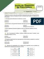 BGU - 2 Evaluación Diagnostica de Fisico-quimica