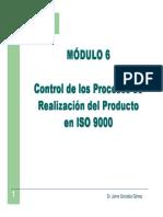 Módulo 6 Control de La Realización Del Servicio en ISO 9000