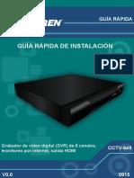 Grabador de video digital (DVR) de 8 canales, monitoreo por internet, salida HDMI