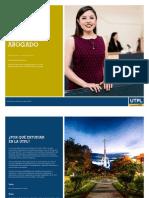 Brochure Carrera Derecho Utpl