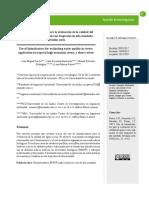 Uso de bioindicadores para la evaluación de la calidad del agua en ríos