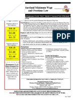 Maryland DOL Minimum Wage and Overtime Law Employee Rights Poster