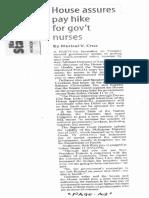 Manila Standard, Oct. 23, 2019, House assures pay hike for govt nurses.pdf