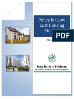 Policy for Low Cost Housing Finance1