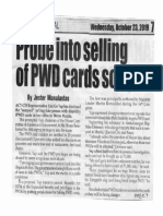 Peoples Journal, Oct. 23, 2019, Probe into selling of PWD cards sought.pdf