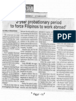 Philippine Star, Oct. 23, 2019, 2-year probationary period to force Filipinos to work abroad.pdf