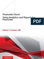 Using Analytics and Reports for Financials