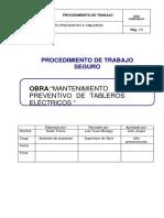 MANTENIMIENTO PREVENTIVO DE TABLEROS ELECTRICOS