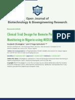 Open Journal of Biotechnology & Bioengineering Research
