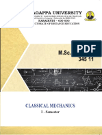 M_Sc_ Physics - 345 11 - Classical Mechanics