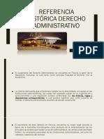 Referencia Histórica Derecho Administrativo