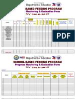 SBFP Progress Monitoring Evaluating SY 2018 2019 Dec 2018 1