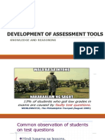 Development of Varied Assessment Tools - 2