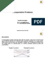 Transportation Problems en 29-5-2012