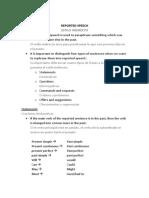 Explanation - Grammar Unit 6 - Reported Speech