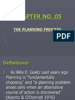 Mgt Chapter 5 The planning process.ppt