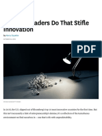 5 Things Leaders Do That Stifle Innovation