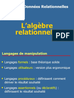 Algebre Relationnel