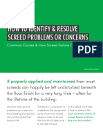 Flowcrete India How to Identify and Resolve Screed Problems August 2018