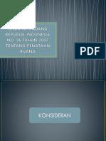 UNDANG-UNDANG REPUBLIK INDONESIA NO. 26 TAHUN 2007 TENTANG PENATAAN RUANG.pptx