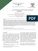Isothermal and non-isothermal pyrolysis kinetics of Kapton polyimide.pdf