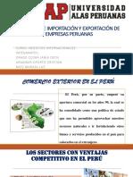 Exportacion e importacion en el Perú